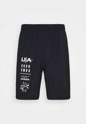 FOOTBALL LOGO SHORT - Sports shorts - black