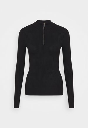 ZIP DETAIL JUMPER  - Jumper - black