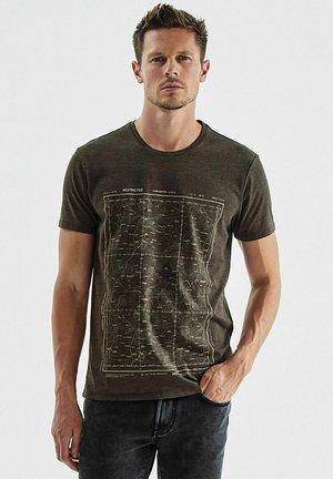 Print T-shirt - bronze