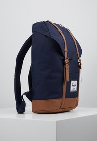Herschel - RETREAT - Rucksack - peacoat/saddle brown - 3