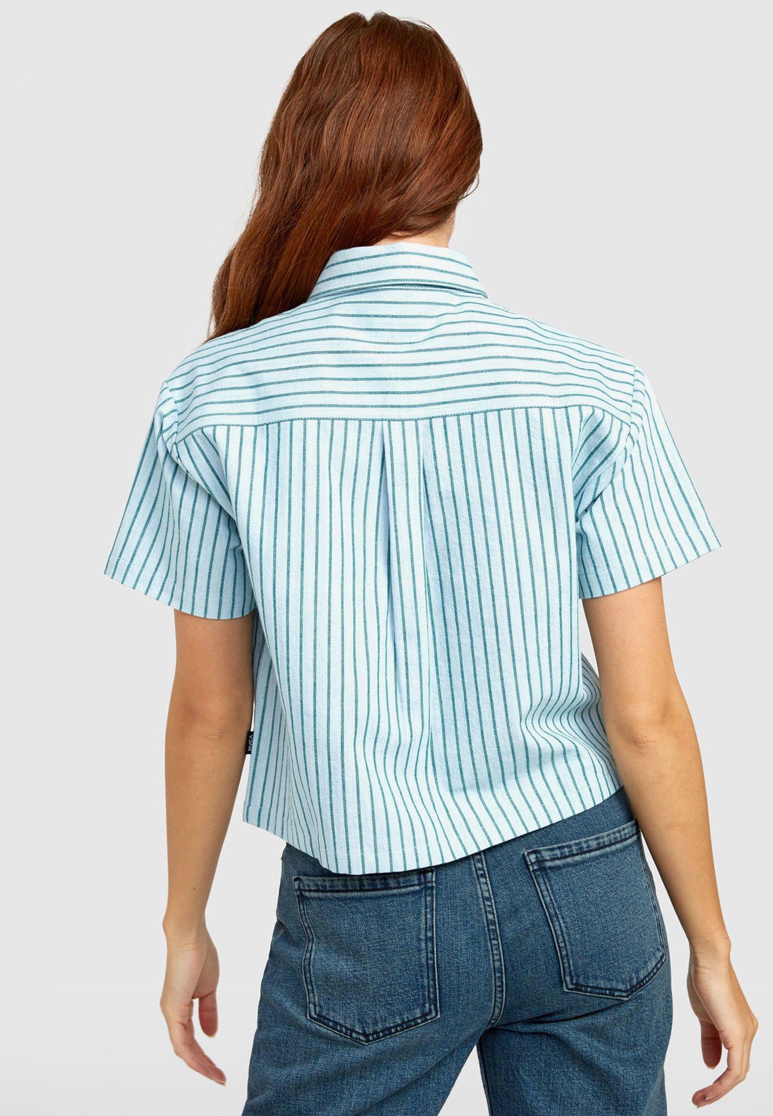RVCA Overhemdblouse - green stripe - Dameskleding Klassiek