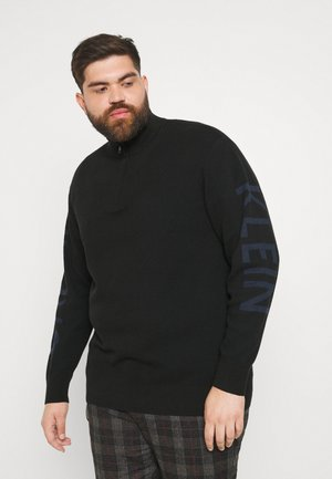 TWO TONE STRUCTURE - Jumper - black
