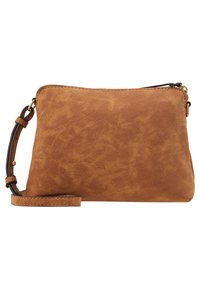 Dorothy Perkins - TAN ZIP TOP CROSS BODY - Taška s příčným popruhem - tan - 6