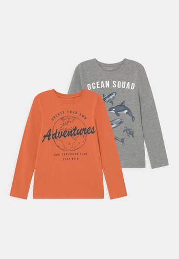 NMMVUX 2 PACK - Long sleeved top - apricot brandy