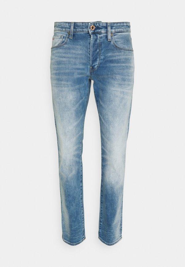 G-Star 3301 SLIM - Jeansy Slim Fit - vintage beryl blue/jasnoniebieski Odzież Męska NXFL