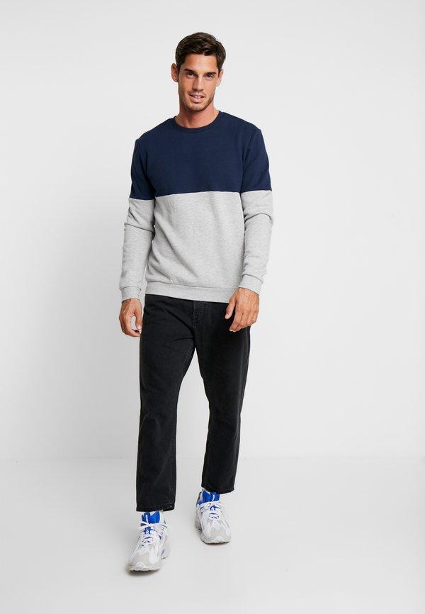 Pier One Bluza - mottled light grey/dark blue/jasnoszary melanż Odzież Męska BYKM