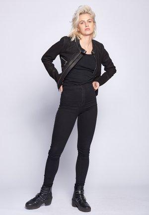 HAMILL - Leather jacket - black