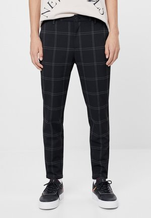 Chino kalhoty - black denim