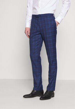 DRAKE NAVY DOGTOOTH TROUSER SKINNY - Suit trousers - navy