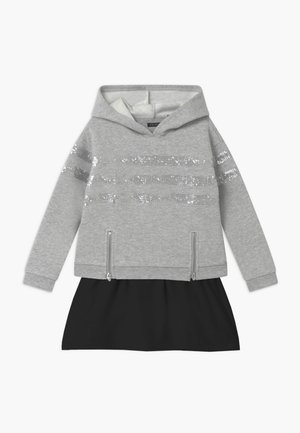 SEQUINSTRIPE HOOD - Day dress - gris