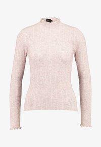 New Look - LETTUCE EDGE STAN - Strikkegenser - light pink - 3