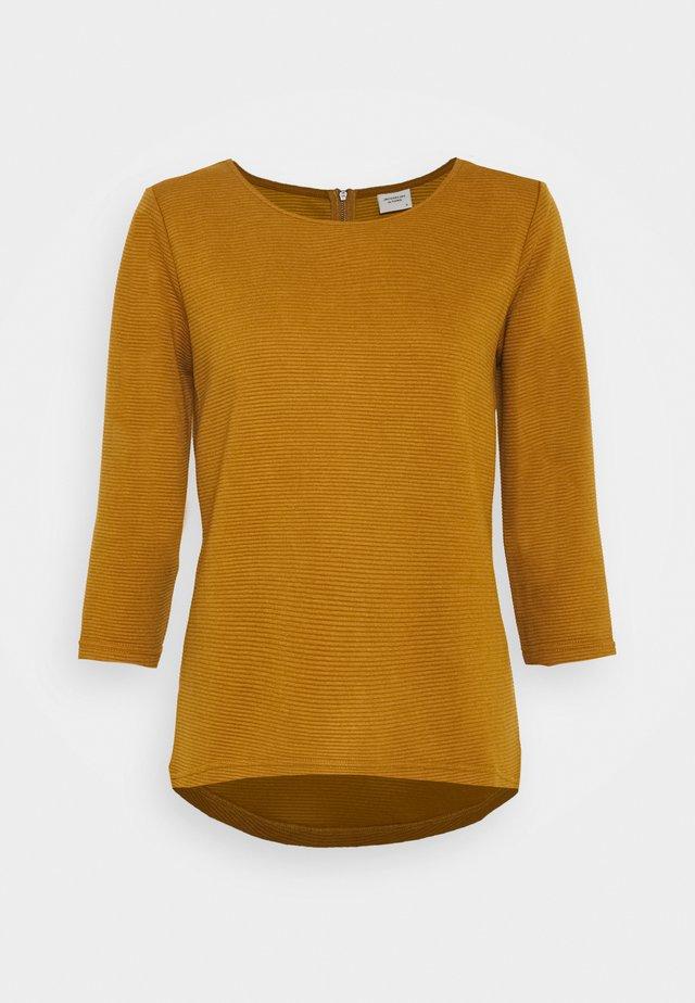 JDYSAGA NEW ZIP - Pullover - golden brown