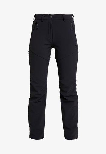 WINTER HIKING PANTS WOMEN - Pantaloni - black