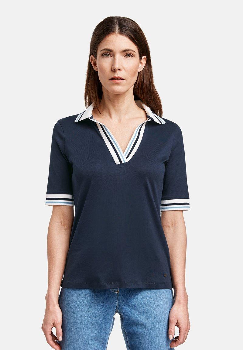 Gerry Weber - MIT KONTRASTKANTEN - Polo shirt - azur