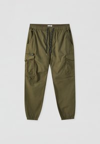 PULL&BEAR - Cargo trousers - dark green - 2