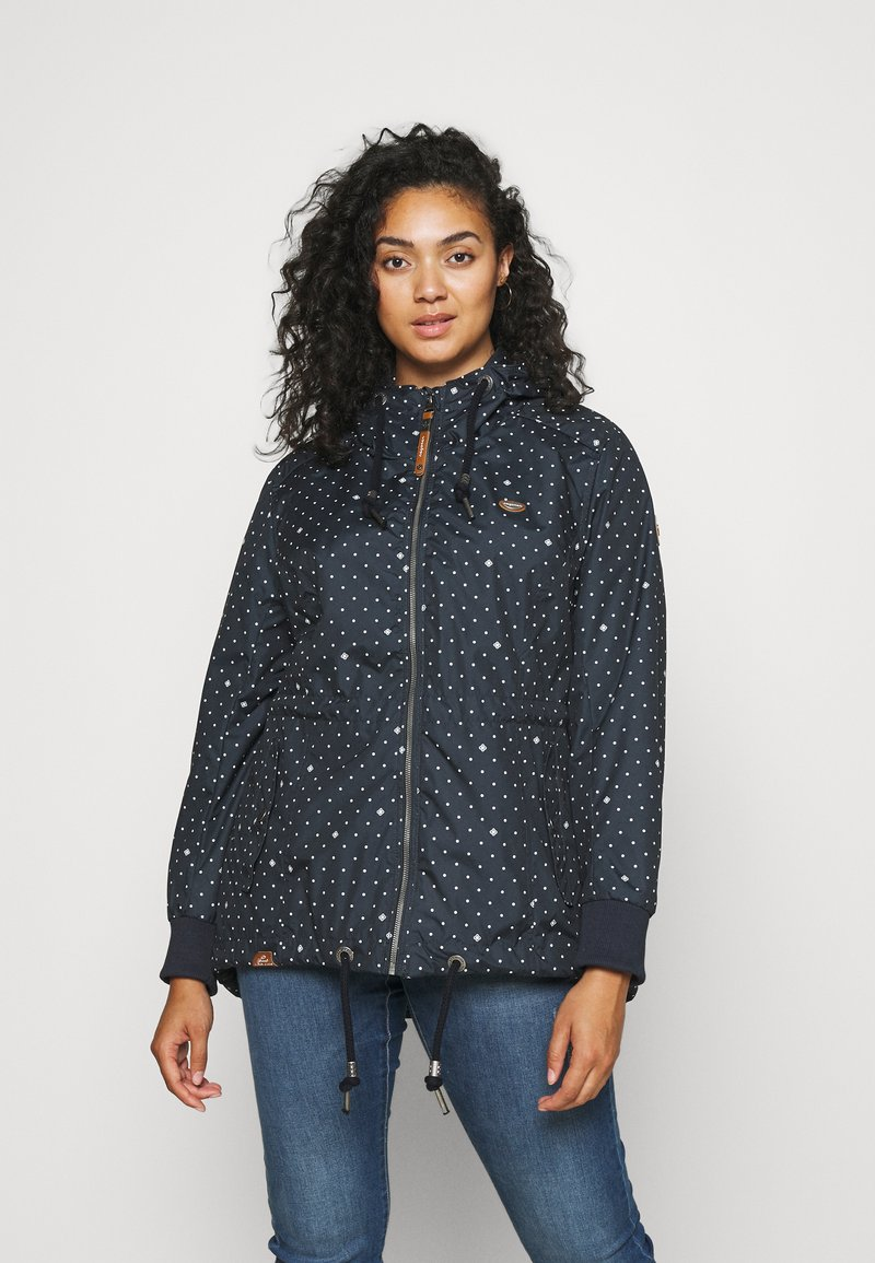 Ragwear Plus - DANKA DOTS - Short coat - navy