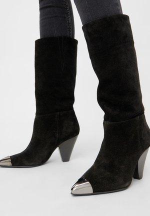 Kowbojki i obuwie motocyklowe - black 1