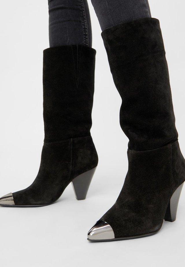 Cowboy- / Bikerboots - black 1