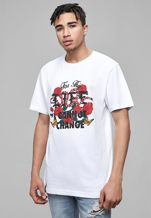 LIFE TEE - T-shirt print - white/mc
