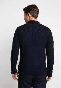 Pier One - Pullover - dark blue/bordeaux - 2