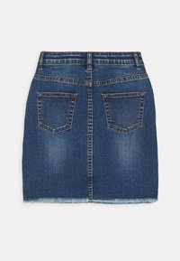 The New - RANA SKIRT - Mini skirt - dark blue denim