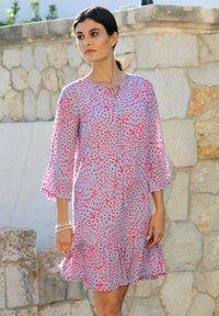 Alba Moda - Day dress - blau/koralle - 3