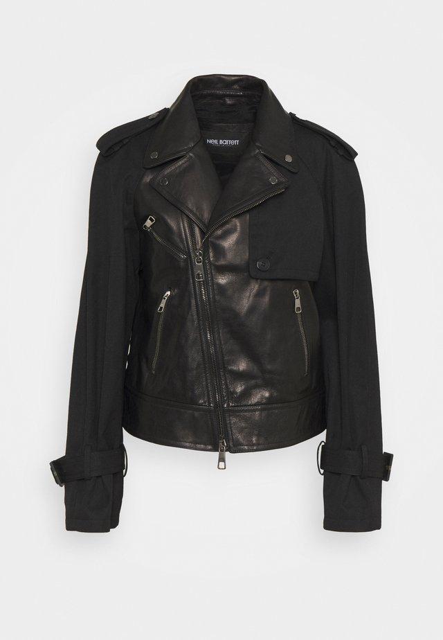 HYBRID BIKER - Veste en cuir - black