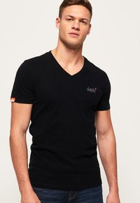 Superdry - VINTAGE  - T-shirt basic - black - 0