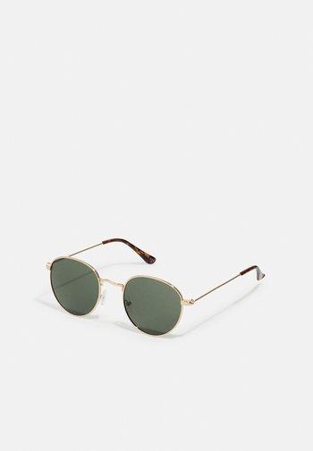UNISEX - Sunglasses - gold-coloured/green