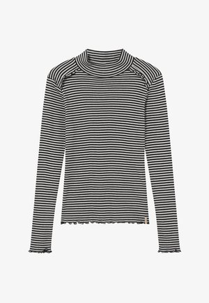 FITTED STRIPES - Longsleeve - black/white