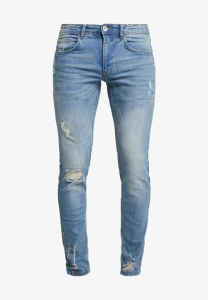 STOCKHOLM DESTROY - Vaqueros slim fit - arctic blue