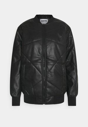 NMRASMINA JACKET - Faux leather jacket - black