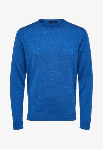 Jumper - medium blue melange