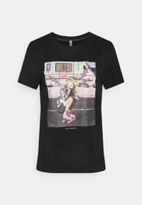 ONLY - ONLLANA LIFE PHOTO BOX - Print T-shirt - black - 4