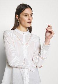 Cream - MANNA - Button-down blouse - chalk - 3