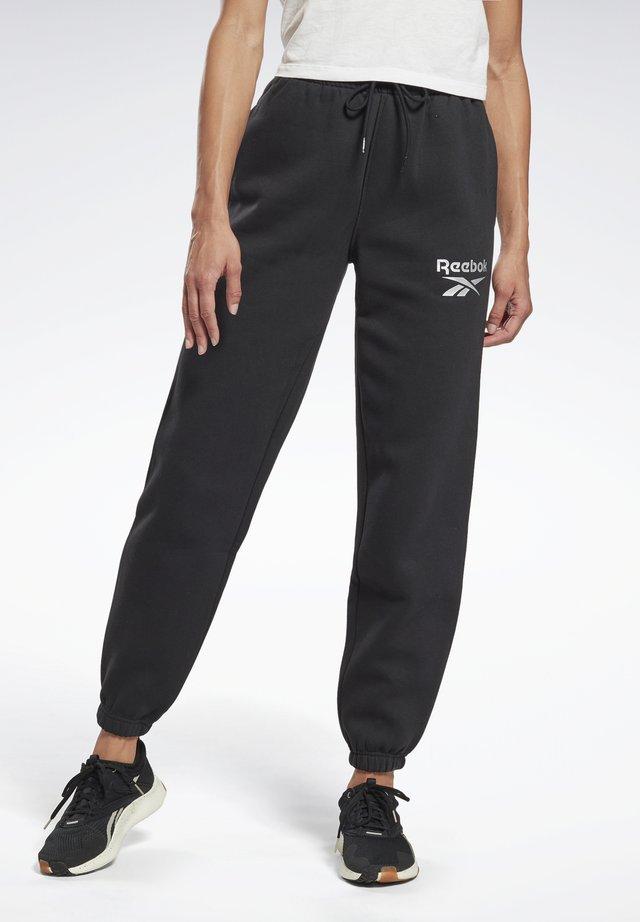 REEBOK IDENTITY LOGO FLEECE PANTS - Pantalon de survêtement - black