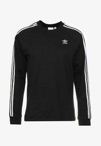 adidas Originals - 3 STRIPES UNISEX - Long sleeved top - black - 4