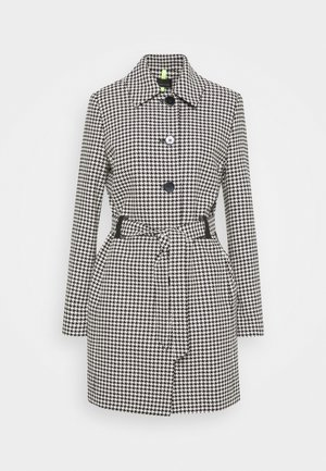 CITY - Classic coat - schwarz/weiß