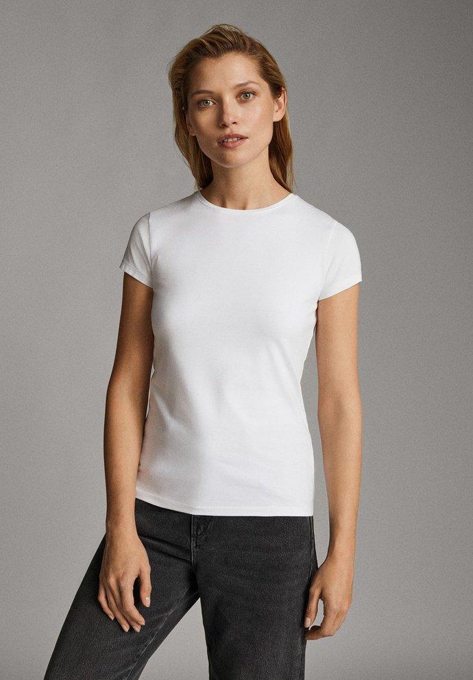 Massimo Dutti - T-shirt basique - white