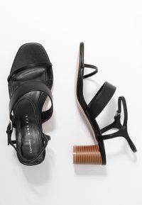 Topshop Wide Fit - WIDE FIT DITA STRAP - Sandals - black - 3