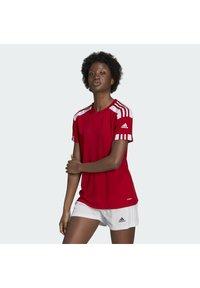 adidas Performance - SQUADRA 21 - T-shirts med print - team power red white - 1