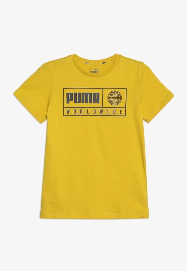 ALPHA GRAPHIC TEE - Print T-shirt - sulphur