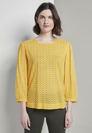 TOM TAILOR BLUSEN & SHIRTS VERSPIELTE BLUSE MIT ALLOVERPRINT - Blouse - yellow dot design