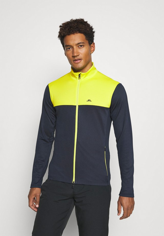 BANKS MID LAYER - Fleecejacke - leaf yellow