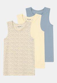 MINI A TURE - YO 3 PACK - Undershirt - off-white/blue - 0