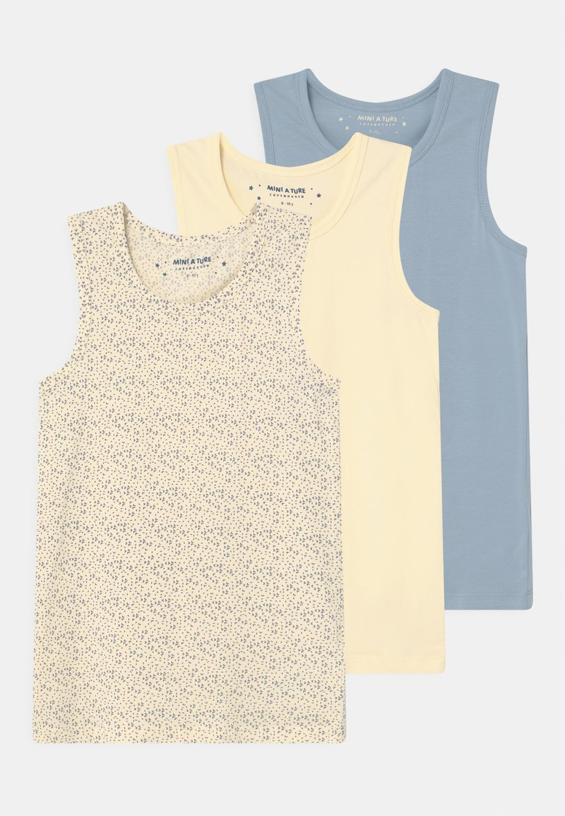 MINI A TURE - YO 3 PACK - Undershirt - off-white/blue
