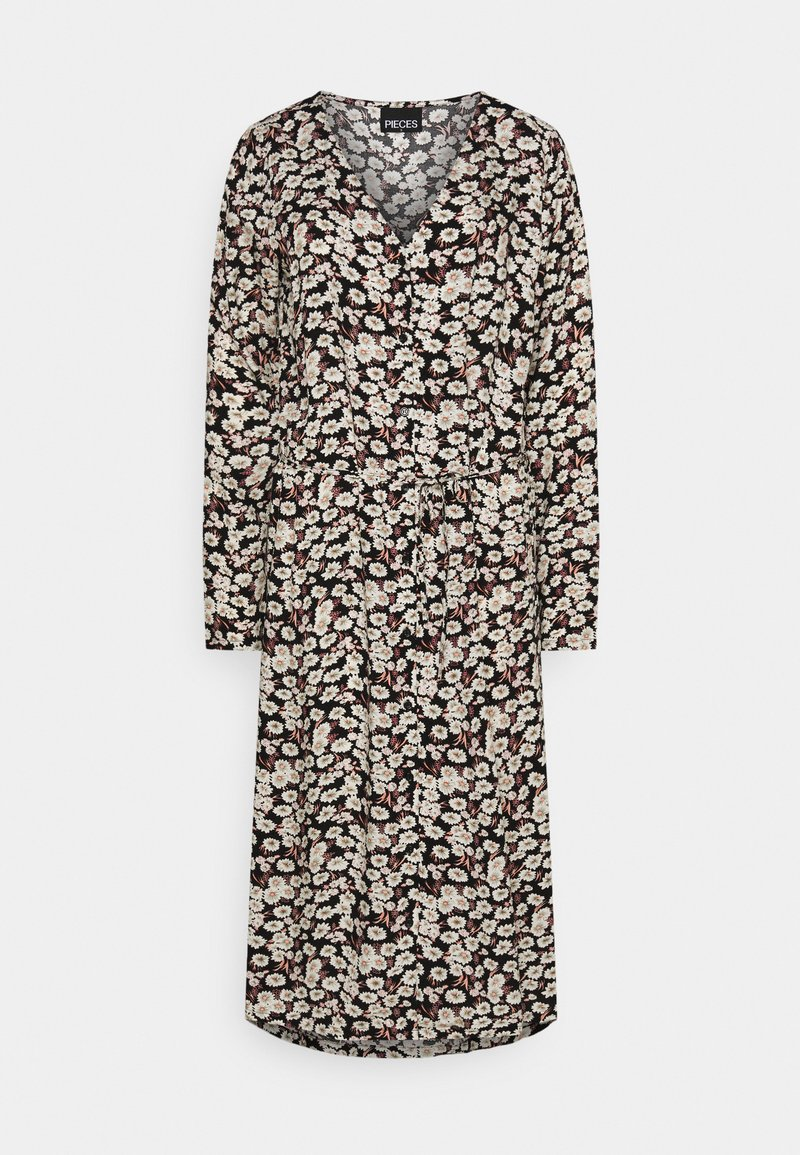 PIECES Tall - PCJUGLA SHIRT DRESS - Košilové šaty - black