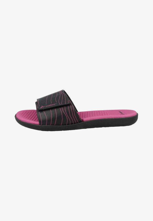 Sandales de bain - black-black-pink