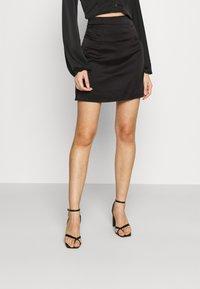 Missguided - SKIRT  - Mini skirt - black - 0