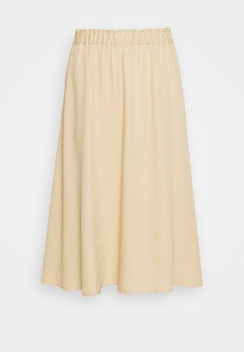 BERTA SKIRT BELLOW KNEE - A-line skirt - pebble
